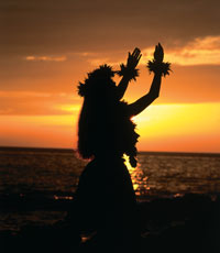 Image Source: Hawaii Tourism Authority. Hula in the sunset