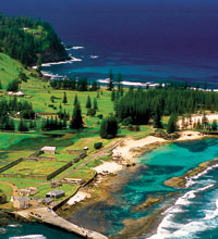 Image Source: Norfolk Island Tourism. Looking down on Norfolk Island