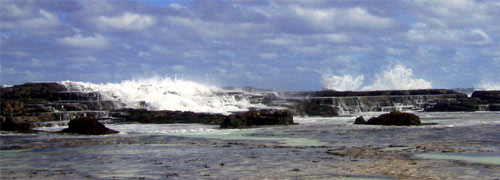 Image Source: Jon Thomson. Blowholes on the coast of Tongatapu